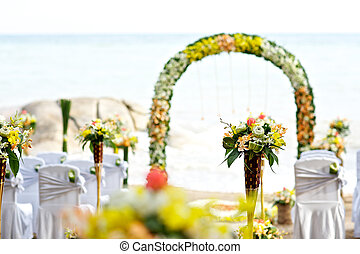 setup, spiaggia, matrimonio