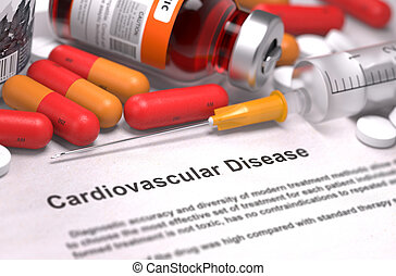 médico,  cardiovascular,  -, concepto, enfermedad