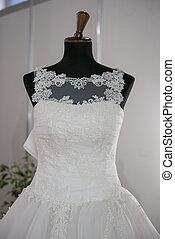 Bridal Gown - Mannequin with bridal gown for the wedding day