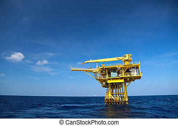 Oil and Rig industry in offshore, Construction platform for...