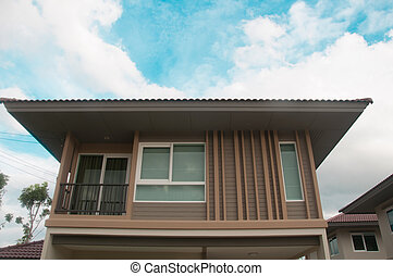 hemmen, familj, Hus, nymodig, färsk,  Thailand, Hem