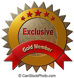 Exclusive Gold Member - This golden seal declaring...
