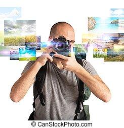 vášeň, jako, fotografování,