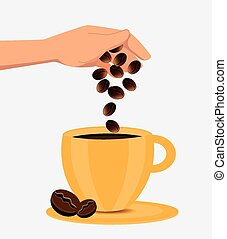 Coffee design - Coffee design over white background, vector...