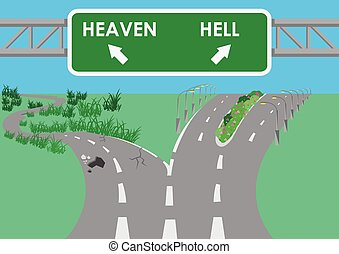 The road to hell is paved - Vector road to hell is paved...