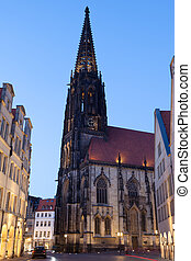 Late Gothic St Lamberti Church in Muenster, North Rhine...
