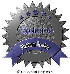Exclusive Platinum Member - This platinum seal with five...
