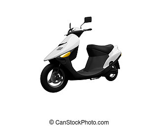 Scooter isolated moto front view 01 - isolated scooter