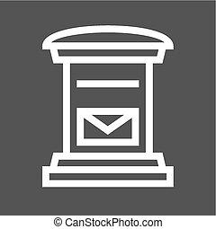 Letterbox, post box, post, postal service icon vector image....