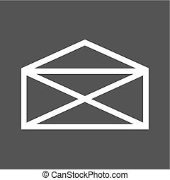 Envelop - Mail, envelop, letter, post icon vector image. Can...