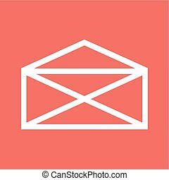 Envelop - Mail, envelop, letter, post icon vector image Can...