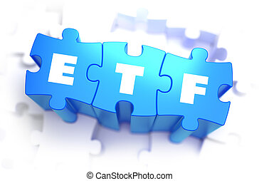 ETF - White Word on Blue Puzzles. - ETF - White Word on Blue...