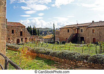 View of a village in Tuscany