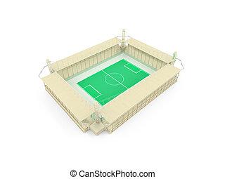 stadium over white