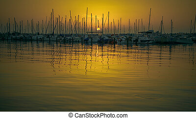 evening Yacht Club - breathtaking sunset at the yacht club...