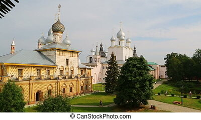 Kremlin in ancient town Rostov the Great, Russia. Included...