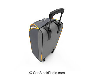Travel bag - isolated travel bag on a white background
