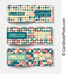 ectangular banners - Set of colored vector rectangular...