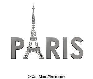 Eiffel, wieża, Z, Paryż, tekst,