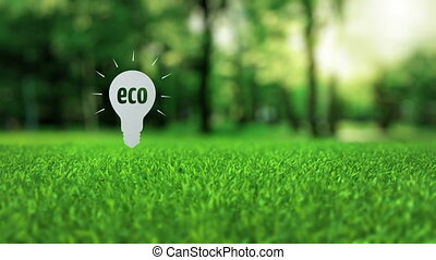 Eco paper lamp ecology concept - White paper eco lamp...