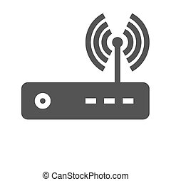 Router, modem hardware, connection icon vector image Can...