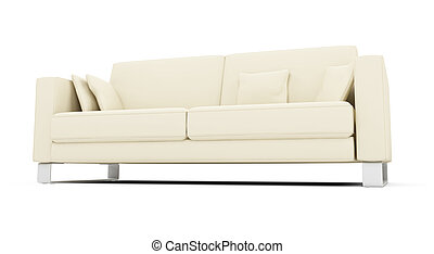 White sofa over white