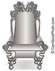 king throne. cartoon king throne isolated on white