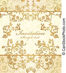 Vector frame and ornate pattern