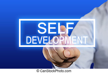 Self Development - Business concept image of a businessman...