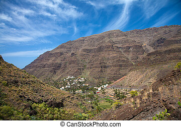 La Gomera, Valle Gran Rey,view across the valley towards...