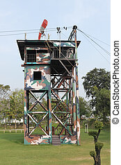 Tower for parachute training