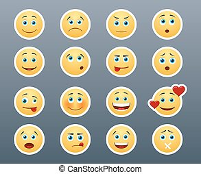 Different emotions smileys
