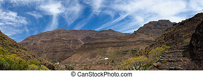 La Gomera, Valle Gran Rey, view across the valley