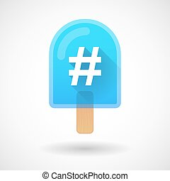 Ice cream icon with a hash tag