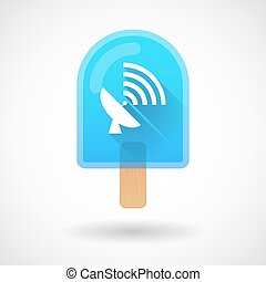 Ice cream icon with an antenna