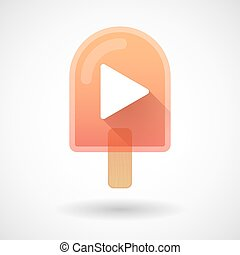 Ice cream icon with a play sign