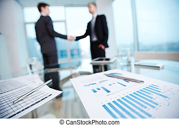 Business data - Business documents with economic data and...