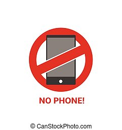No phone sign - No phone vector sign on the white background