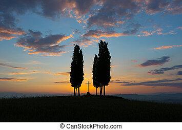 Tuscany before sunrise