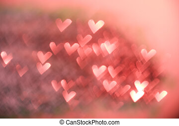 Red festive Valentines day background Abstract with bright...
