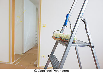 home renovation - Ladder and roller, home renovation