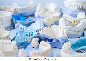 Dental plaster moulds and imprints - Denture and implant...