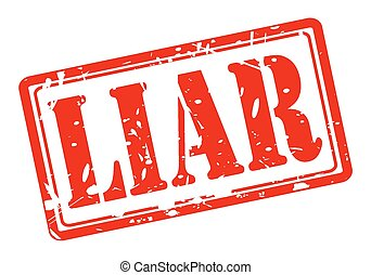 Liar red stamp text