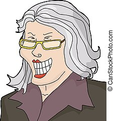 Laughing Mature Businesswoman - Laughing businesswoman with...
