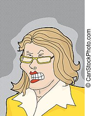 Cranky Lady in Yellow