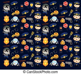 Police and Robber Background