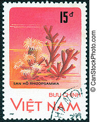 postage stamp - VIETNAM- CIRCA 1987: stamp printed by...