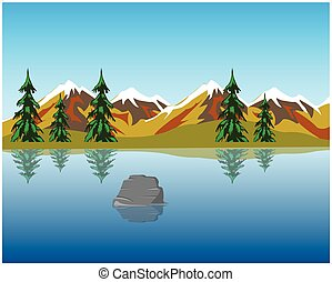 Lake in mountains - The Beautiful lake in mountain amongst...