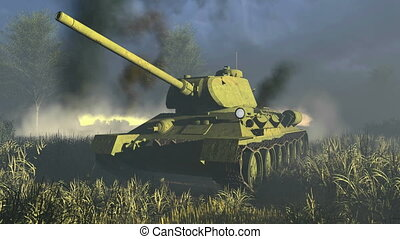 Russian Tank T 34 Close-up - Close-up of the legendary tank...