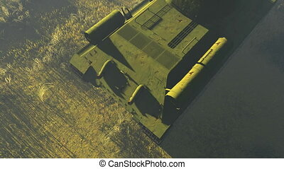 Russian Tank T 34 Top view - Top view of the legendary tank...